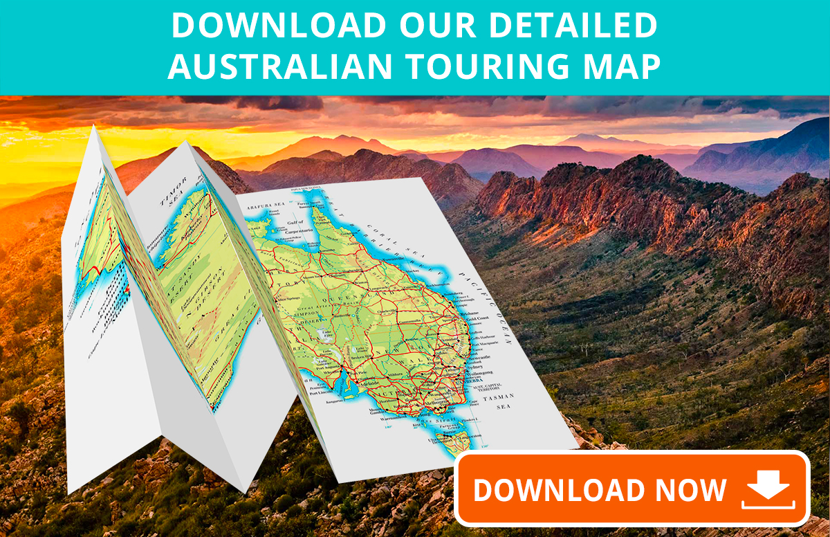 Australia Driving Map.Detailed Australia Touring Map Plan Your Aussie Vacation