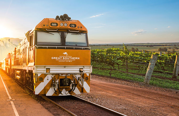 Train into the Hunter Valley