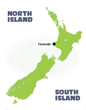 Map of Taranaki