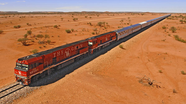 The Ghan -  A Classic Rail Journey through the Australian Red Centre.