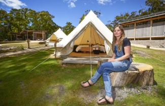 Glamping Bay of Fires