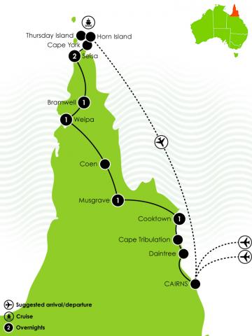 Cape York Frontier – Cairns to Cape York Large Map