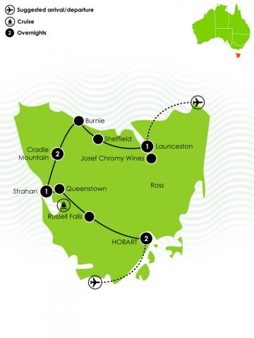Tassie's Parks and Nature Large Map
